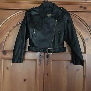 Hide Park Leather Bomber Jacket.,